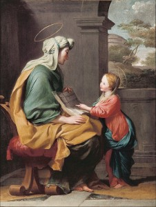 Attributed_to_Giovanni_Romanelli_-_Education_of_the_virgin_-_Google_Art_Project